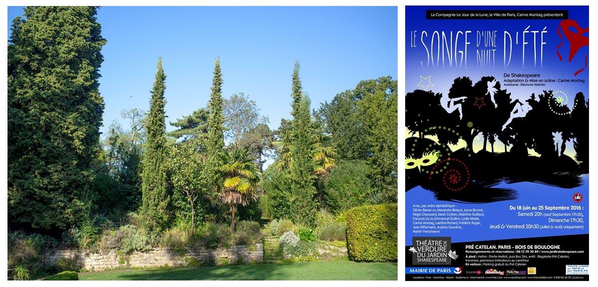 Les lieux insolites culturels autour de paris booster 2 - Theatre de verdure du jardin shakespeare ...