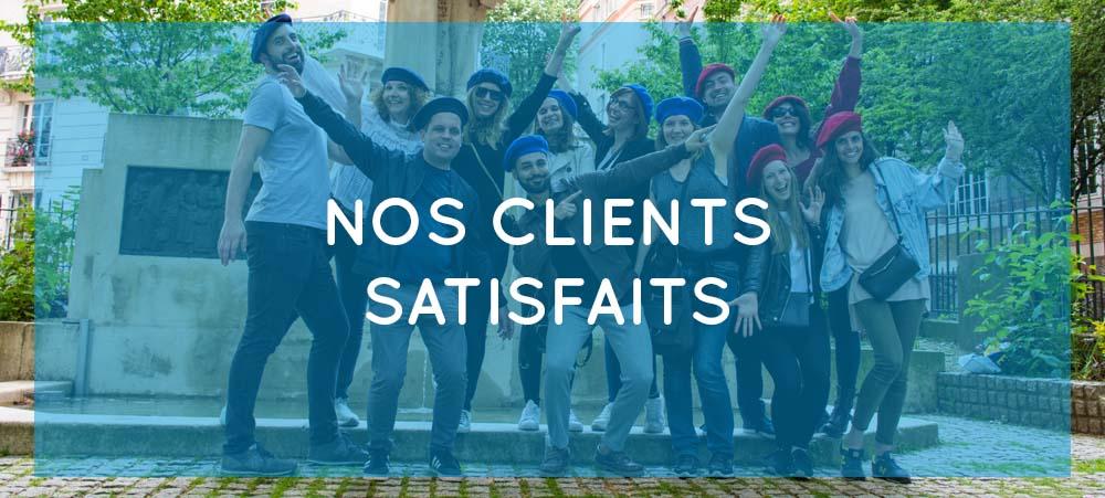 Nos clients satisfaits – Team building ludiques à Paris