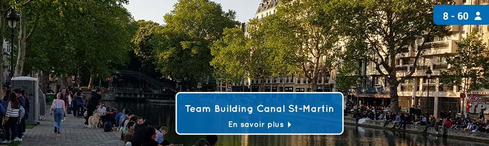 Bandeau jeu de piste teambuilding Canal Saint Martin