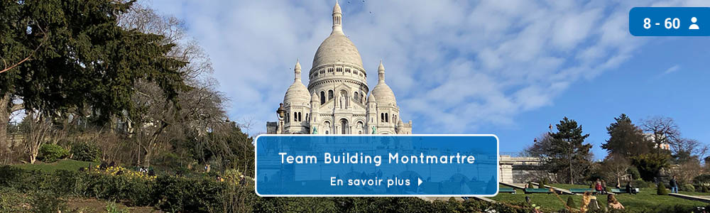 Bandeau jeu de piste teambuilding Montmartre