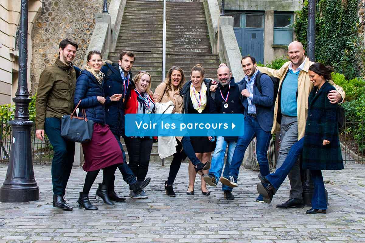 team building à Paris tous les parcours