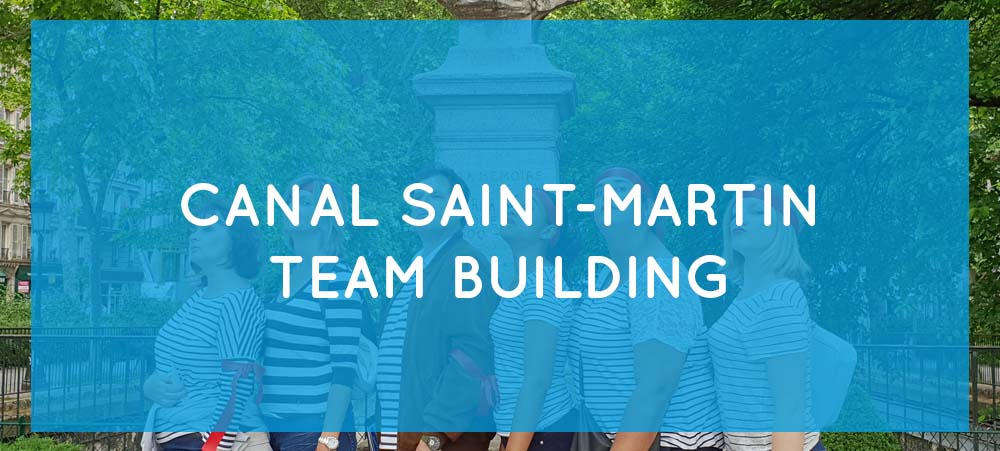 Team building activities Paris:  tourist walk in Canal Saint-Martin district