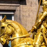 Joan of Arc statue in Paris near the Louvre museum: a surprising story