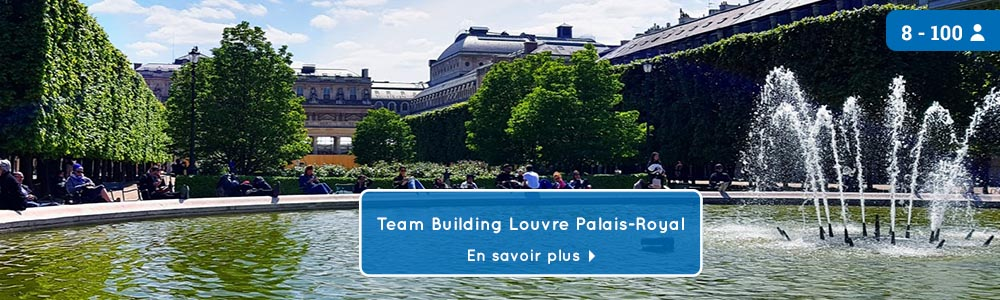 Bandeau jeu de piste teambuilding Louvre Palais Royal