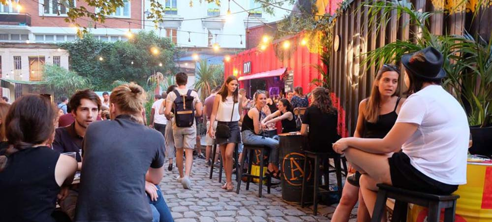 Best bars in Paris: Le café A, near Canal Saint-Martin