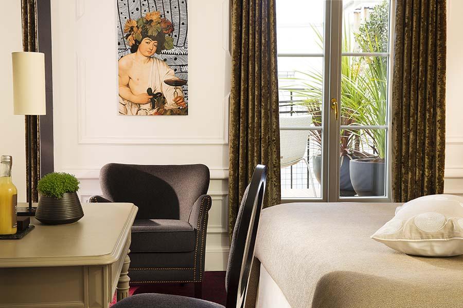 hôtel molière paris décoration chambre