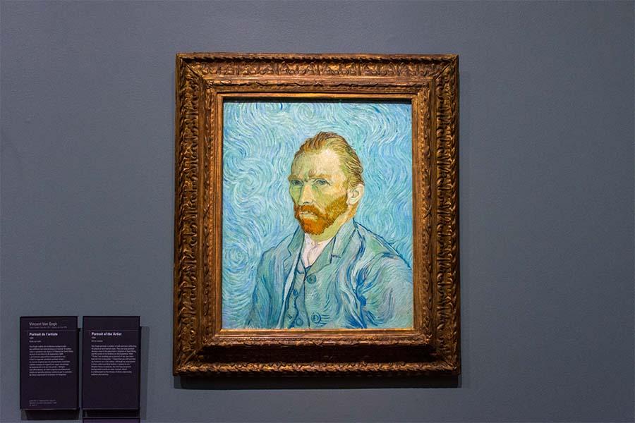 portrait of vincent van gogh musée d'orsay paris