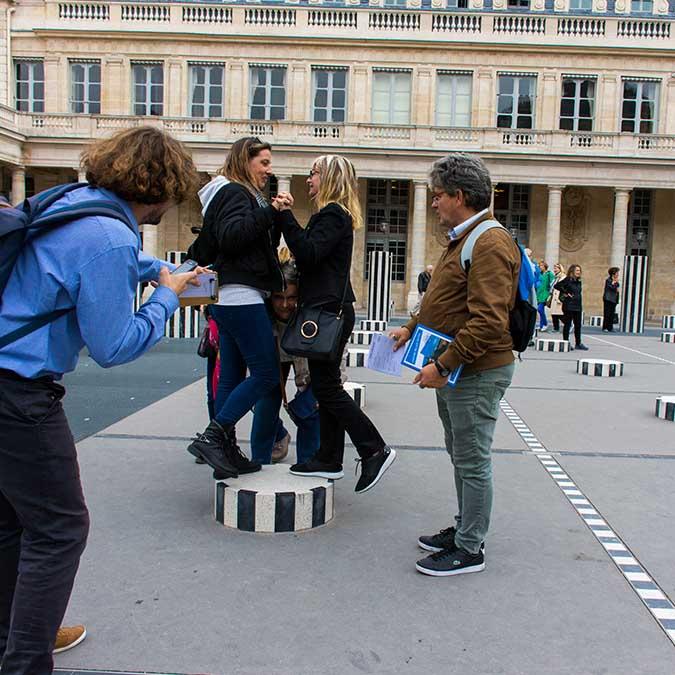 image carré team building palais royal buren