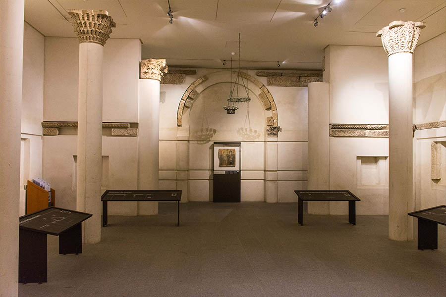 œuvres insolites du Louvre monastère de Baouit reconstitué
