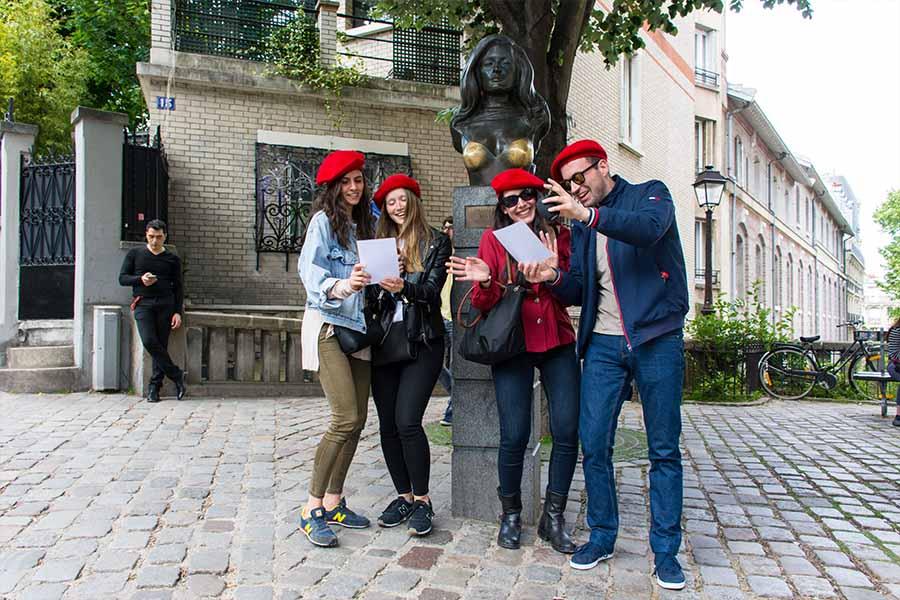 team building en anglais jeu de piste Montmartre