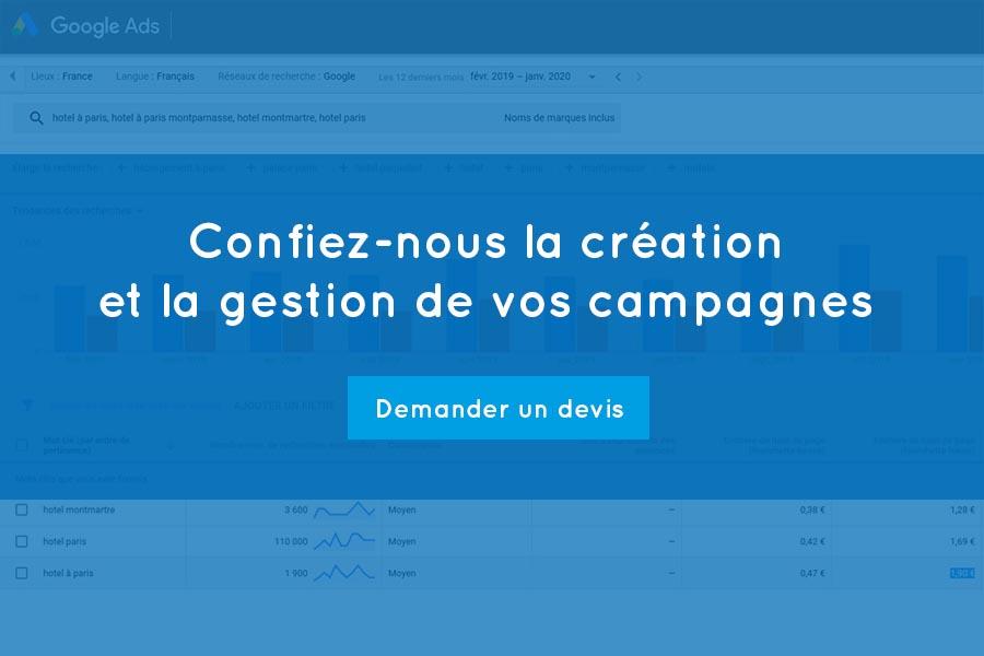 Gestion de campagne Adwords et Google Ads