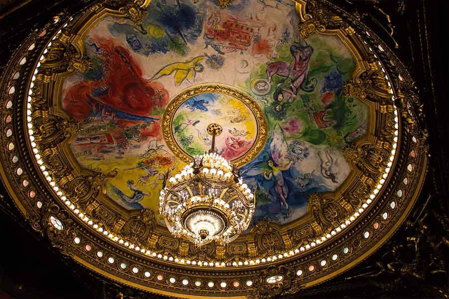 ceiling painted by art master Chagall