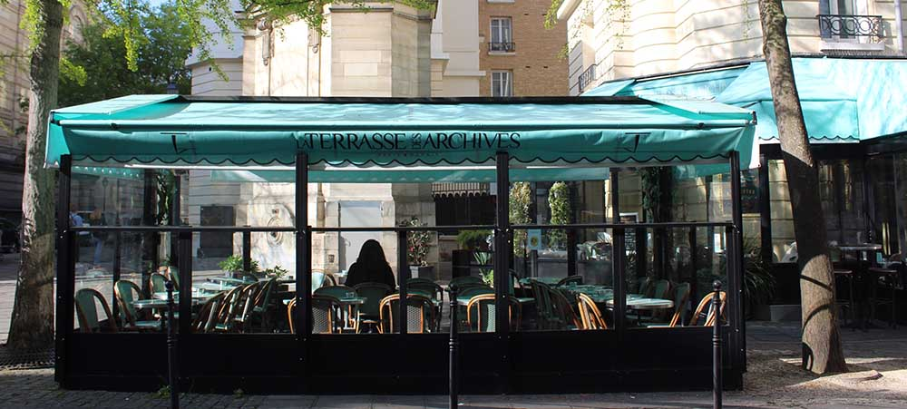 Restaurant in the Marais for an event: la Terrasse des Archives