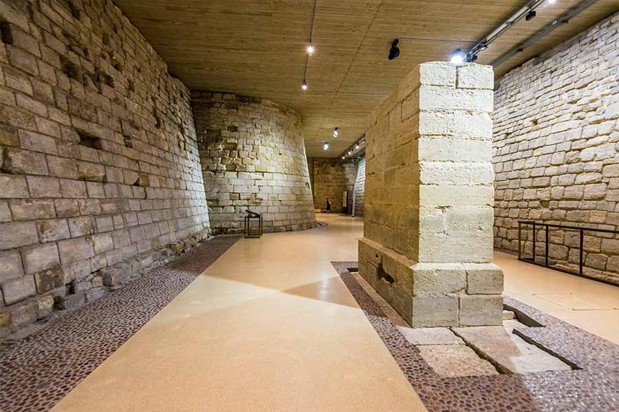 Medieval Louvre - old moat