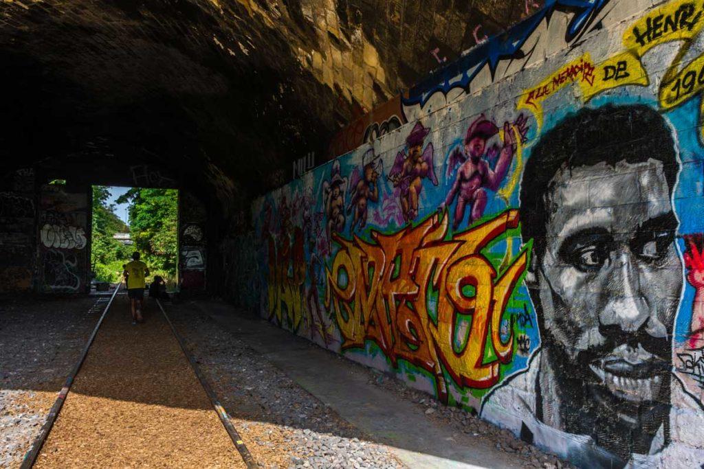 petite ceinture 14e footing et street art