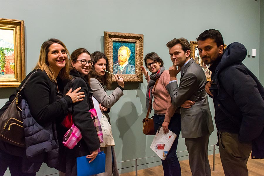 Winter Team building in Paris Orsay Museum treasure hunt