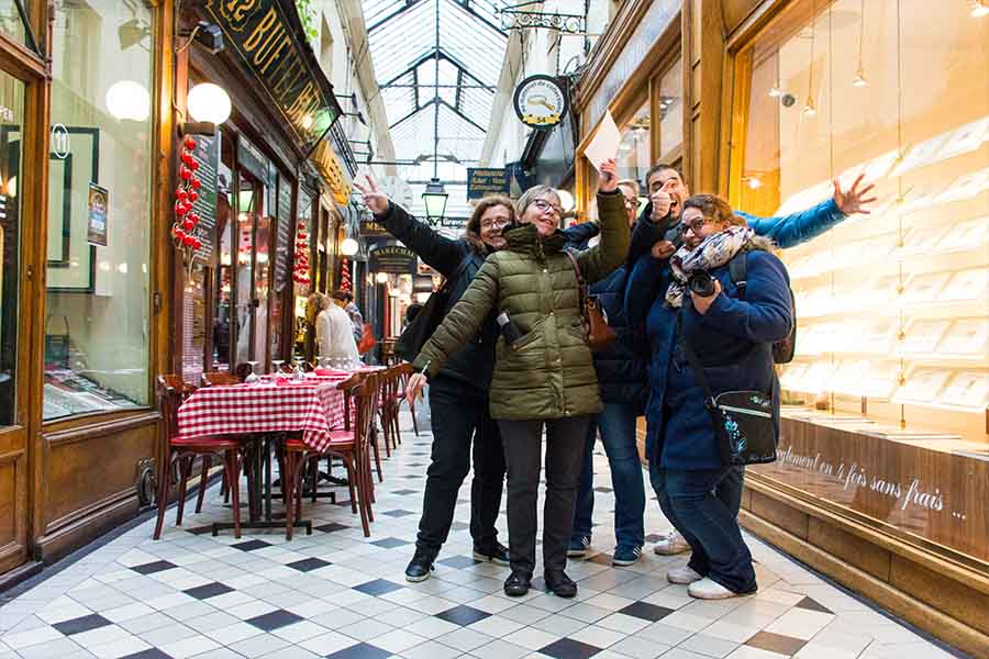 Winter Team building in Paris covered passages
