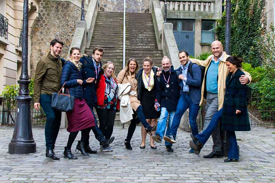 corporate treasure hunt in Montmartre