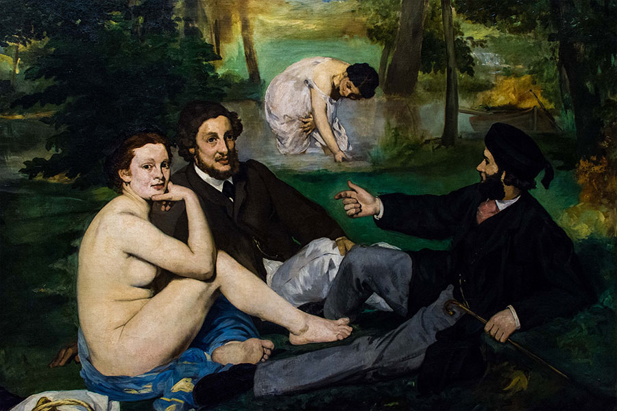 luncheon on the grass manet orsay painting