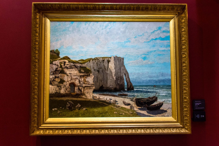 Musée d'Orsay work the Etret cliffs after the storm courbet