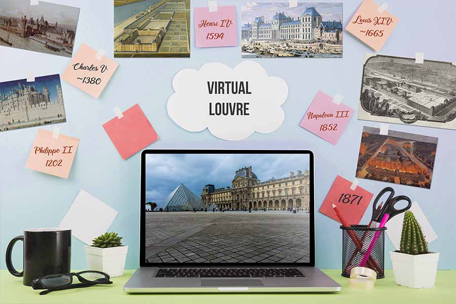 team building virtual Louvre history of the louvre