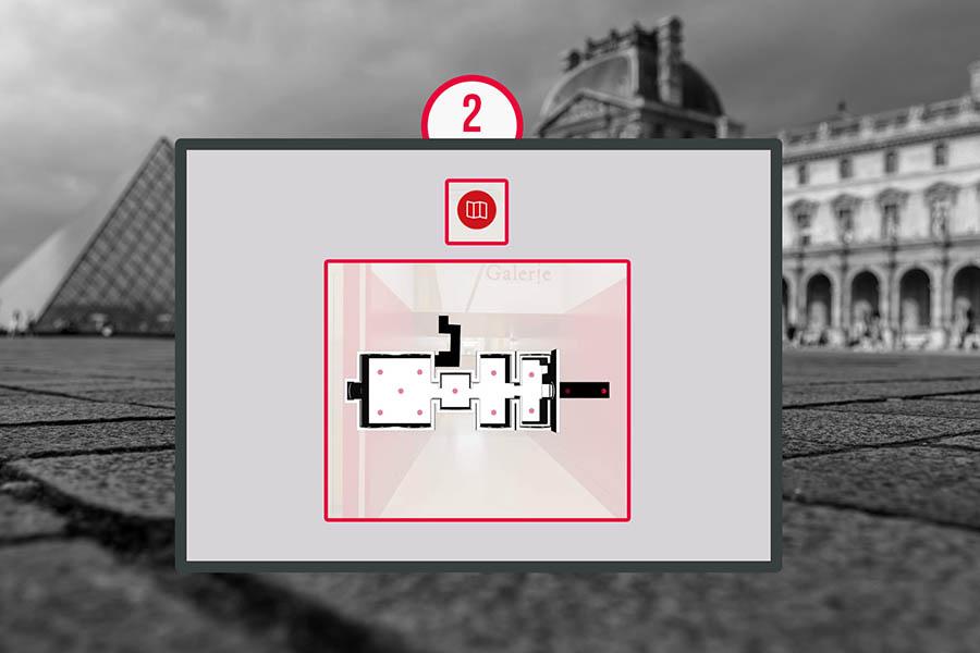 puzzle team building online Louvre