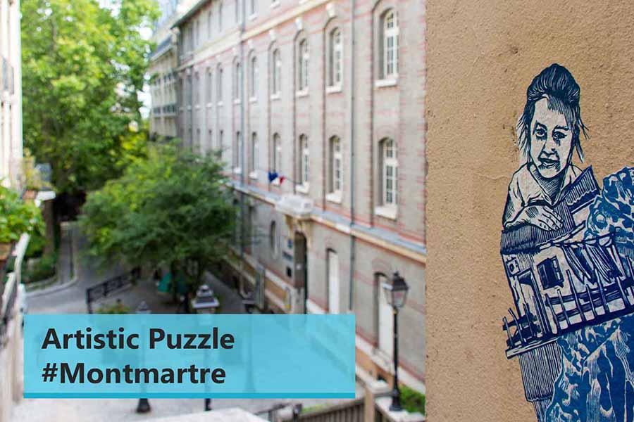 online team building montmartre artistic sequence