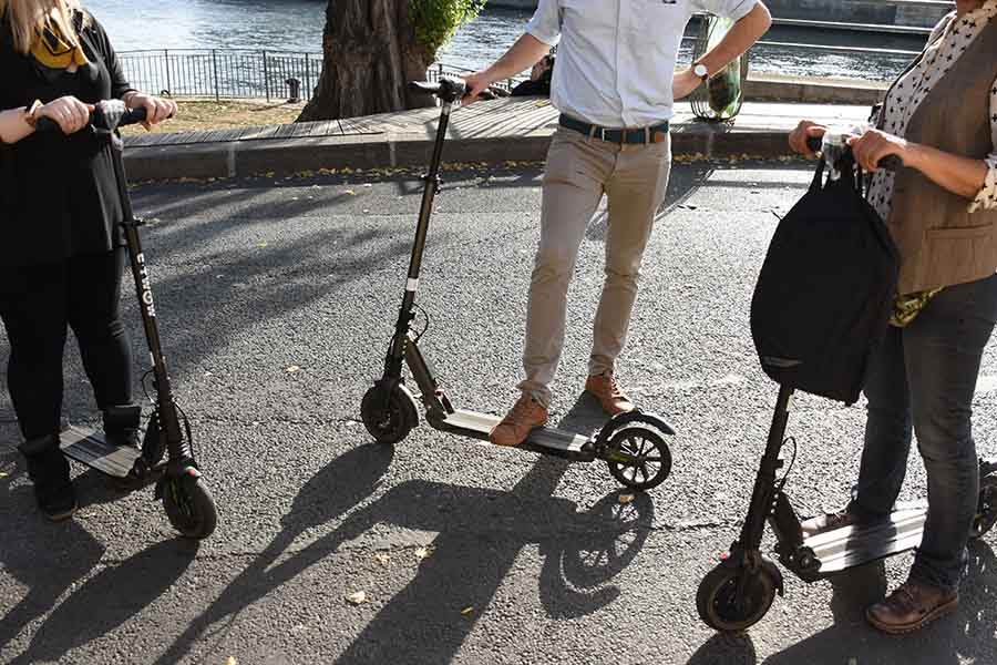 electric scooter to go to work